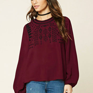 Back-Tie Peasant Top