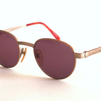 Vintage sunglasses Jean Paul Gaultier 57-3177 Pantos Round Metal Steampunk, Made in Japan NOS