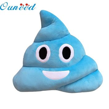 2017 comfortable piilow  Amusing Emoji Emoticon Cushion Heart Eyes Poo Shape Pillow Doll Toy Throw Gift #0725 B