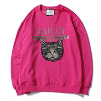 GUCCI Woman Men Fashion Embroidery Top Sweater Pullover