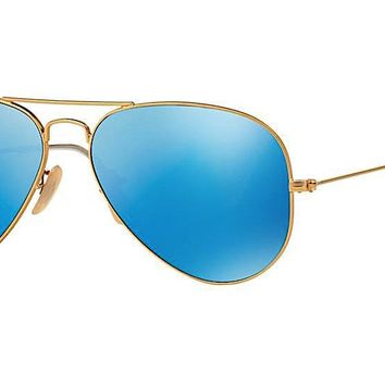 RAY-BAN Aviator RB 3025 112/17 Gold - Blue Mirror Lens
