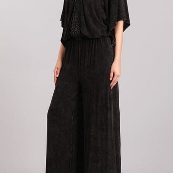 Mineral Washed Convertible Jumpsuit
