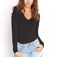 FOREVER 21 PLUS V-Neck Knit Top