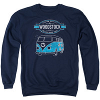 WOODSTOCK/VAN - ADULT CREWNECK SWEATSHIRT - NAVY -