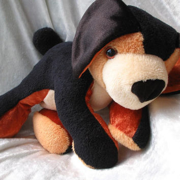 Rottweiler - Doberman - Terrier - Dachshund - Bernese Mountain Dog - Cuddly PUPPY - Soft Toy stuffed plush Animal - Handmade OOAK