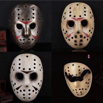 1pcs/lot Black Friday NO.13 Jason Mask Voorhees Freddy Hockey Masquerade Party Mask Halloween Cosplay Full Face Masks For Adult