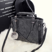 Large Leather Chic Stylish Crossbody Handbag Shoulder Bag