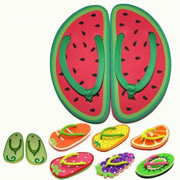 Cartoon Fruit Women Flip Flops 2017 New Fashion Summer Lady Beach Slippers Female Funny Sandlas Slides Flat Shoes One Size FF-03