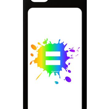 Equal Rainbow Paint Splatter iPhone 5 / 5S Grip Case  by TooLoud
