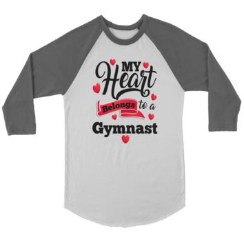 Gymnastics T-Shirt - My Heart Belongs To A Gymnast