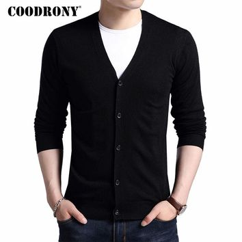 Mens Autumn Winter Warm Cashmere Wool Sweater Cardigan