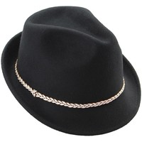 Mechaly Women's Hailey Black Fedora Hat