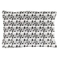 Black Music Notes on White Background Pillow Case> Music Black and White Notes> Duvet Covers
