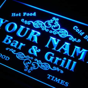 u-tm Name Personalized Custom Family Bar & Grill Beer Home Gift Neon Sign with On/Off Switch 7 colors