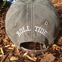 Pigment Dyed Baseball Cap with embroidered state of Alabama with Tuscaloosa Star