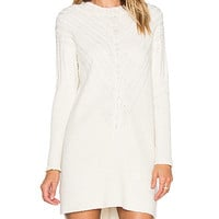 MILLY Engineered Cable Tunic in White