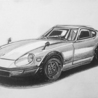 Datsun Fairladyz s30 JDM Art Work Canvas Nissan 240z Original Hand Painting
