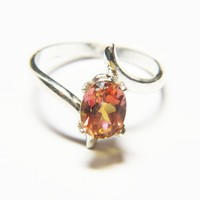 Anastasia Topaz and Sterling Silver Ring