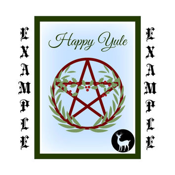 Yule Greeting Card, Wicca, Wiccan, Witch