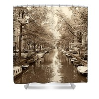 Cruising on the Canal I Shower Curtain for Sale by Ivy Ho