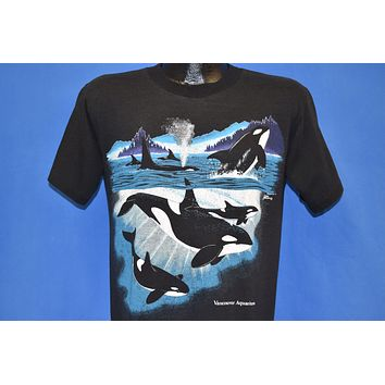 90s Vancouver Aquarium Orca Killer Whales t-shirt Medium