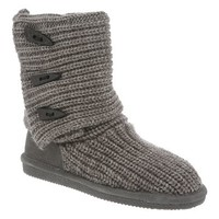 Womens Bearpaw Knit Tall Gray