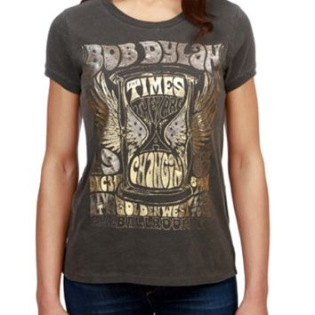 Lucky Brand Bob Dylan Metallic Tee Black Mountain