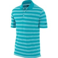 Nike Golf Men's Tech Core Stripe Polo Gamma Blue/WHITE LG