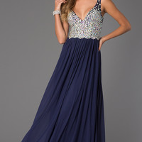 Floor Length V-Neck JVN by Jovani Dress