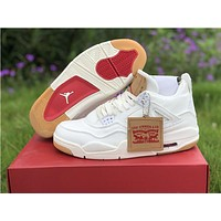 Air Jordan 4 Retro Levis NRG Denim Basketball Shoes