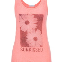 Sunkissed Daisy Graphic Print Tank - Pink