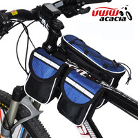 New Sports Cycling Bicycle Bike Front Frame Tube Bags Bicycle Front Tube Bag + Rain Cover