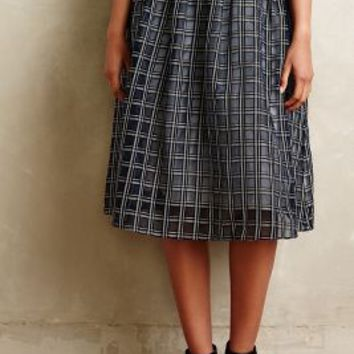 Adrie Skirt by Sam & Lavi Blue Motif