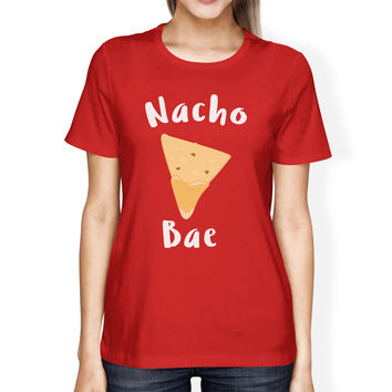 Nocho Bae Women's Red T-shirt Humorous Graphic Light-weight Shirt