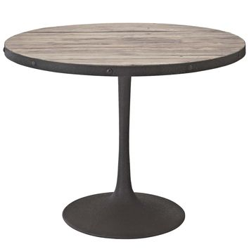 Drive Round Wood Top Dining Table
