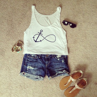 Infinity Anchor Crop Top