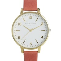 Olivia Burton Coral Large White Face Watch