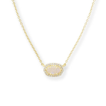 Kendra Scott Chelsea Drusy and Crystal Gold Plated Necklace