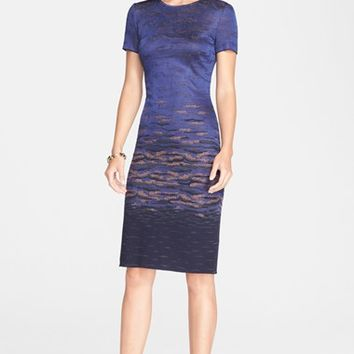 Women's St. John Collection Sunset Jacquard Knit Dress