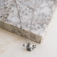Wishes for My Genie Silver Necklace