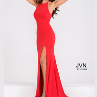 Jovani JVN43004 Scooped Neck Fitted Formal Prom Dress