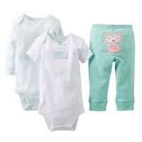Carter's ''Auntie's Little Lady'' Owl Bodysuit & Pants Set