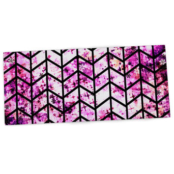 "Ebi Emporium ""Chevron Wonderland"" Pink Black Desk Mat"