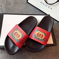 GUCCI Classic Trending Women Men Stylish Beach Sandals Slippers Shoes Red