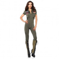 Sexy Top Gun Flight Suit Costume
