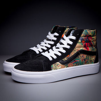 Trendsetter VANS SK8-Hi Fashion Print Flats Ankle Boots Sneakers Sport Shoes