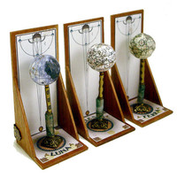 Three Miniature Stand Globes