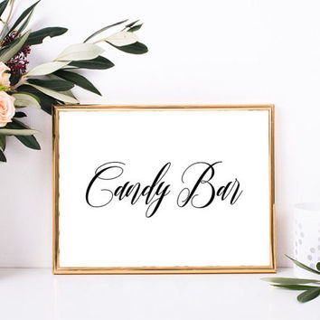 Wedding candy bar sign, Candy buffet sign, Wedding table decorations, Elegant wedding decor, Bridal shower sign, Candy party sign printable