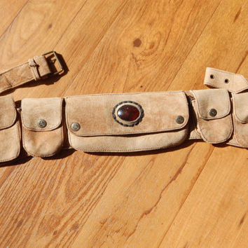 100% Leather Utility Belt w/ Embellishment