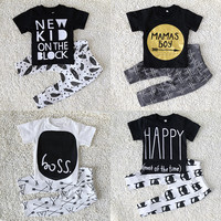 Short Sleeve Baby boy/Girl Clothing suits